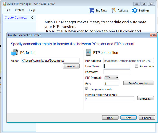 Auto FTP Manager