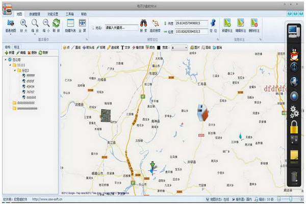 电子地图沙盘软件