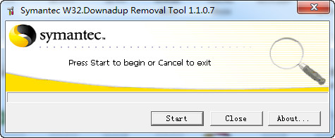 symantec w32.downadup removal