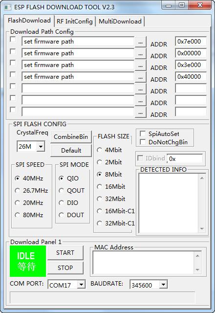 esp8266 flash升级烧写烧录工具