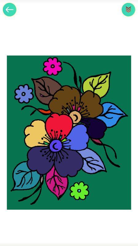植物填色画画_图片1