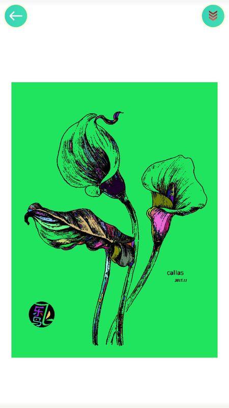 植物填色画画_图片2