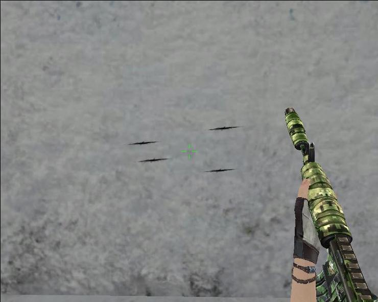 399生死狙击丛林迷彩的M4A4步枪 军魂初步解析