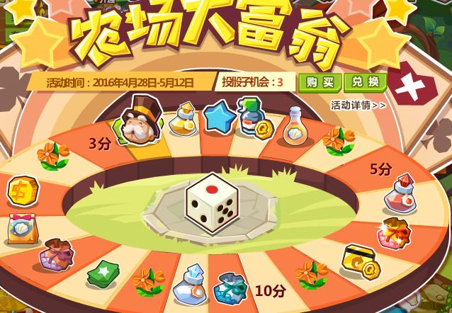 qq西游农场仙桃兑换_QQ农场大富翁玩法说明(4.28-5.12)_咕咕猪下载站