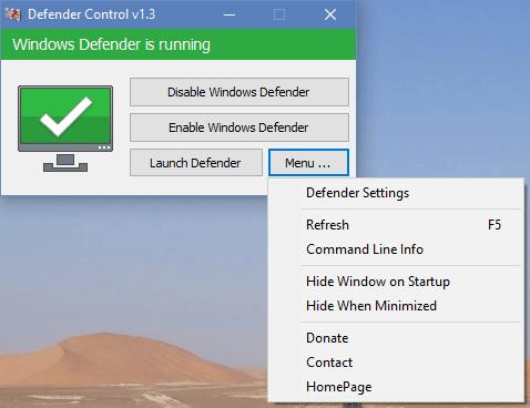 Defender Control