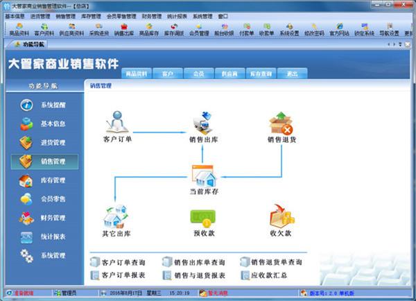 大管家商业销售管理软件